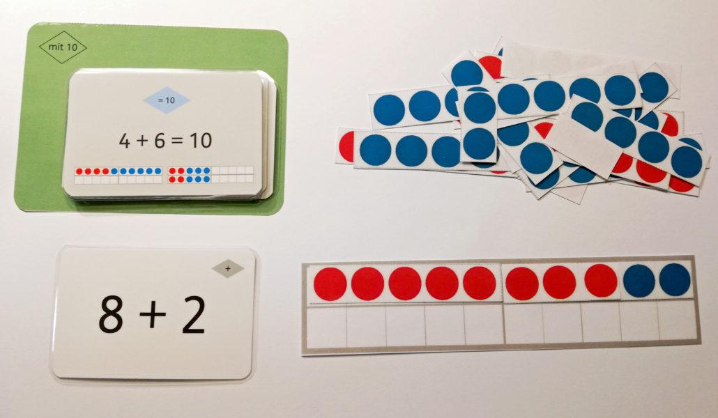 1+1 Karten zum Sortieren und Rechnen