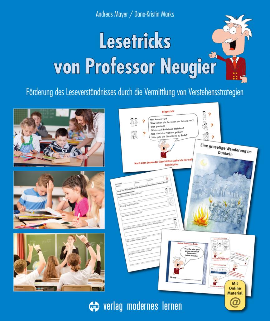 Cover des Förderprogramms Lesetricks mit Professor Neugier